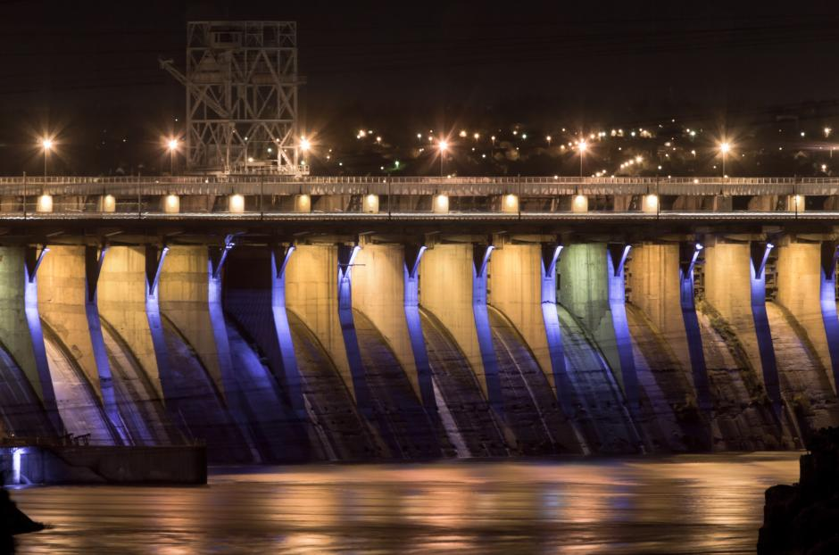 Famous Zaporozhye Hydroelectric Station is the pride of the city providing electricity in the region.